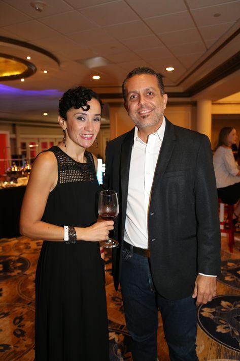 Sandra Rosario y Javier Claudio, en los Premios Cúspide 2017.