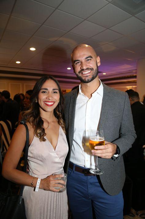 Yarielys y Fernando Rodríguez, en los Premios Cúspide 2017.