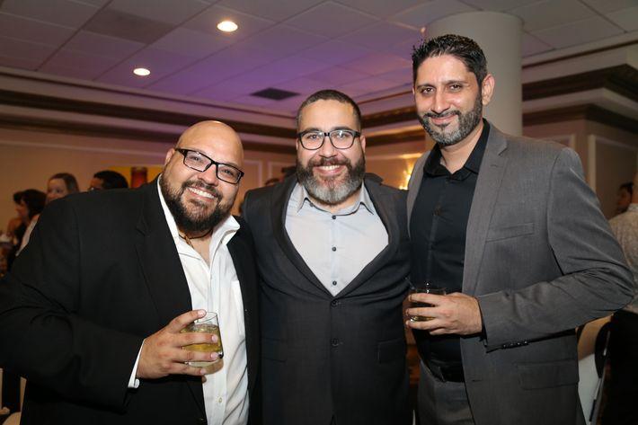 Edwin Abreu, Gerardo Figueroa y Eduardo Veguilla, en los Premios Cúspide 2017.