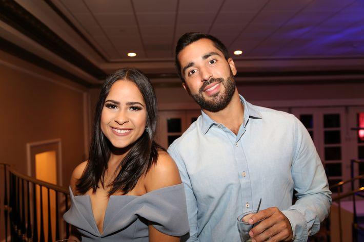 Adriana Cruz y Carlos Díaz, en los Premios Cúspide 2017.