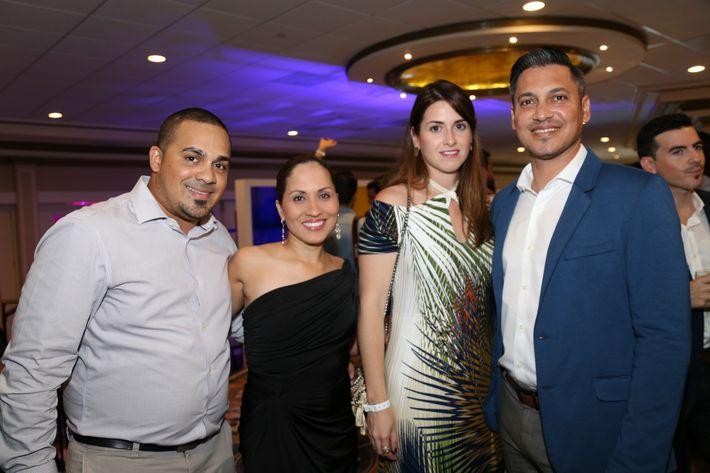 Esteban Ramírez, Luz Rivera, Sylvia Berríos y Nelson Ramos, en los Premios Cúspide 2017.