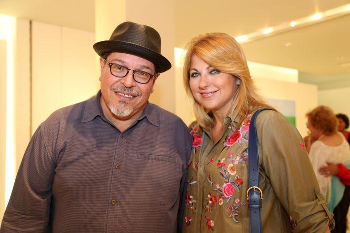 Carlos Dávila Rinaldi y Patricia Eaves, en la muestra Hábitat en Arte @ Plaza.