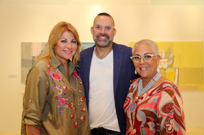 Patricia Eaves, David Antonio y Lilly Pérez, en la muestra Hábitat en Arte @ Plaza.