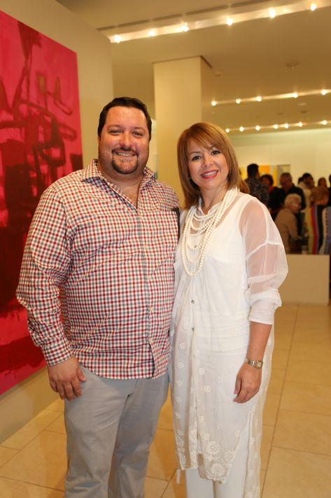Mario Tomasini y María Landrón, en la muestra Hábitat en Arte @ Plaza.