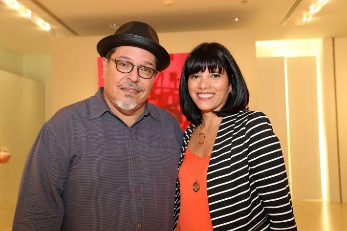 Carlos Dávila Rinaldi y Odette Berríos, en la muestra Hábitat en Arte @ Plaza.