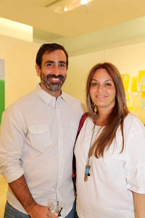 Jorge Bonnet y Nadia Muratti, en la muestra Hábitat en Arte @ Plaza.