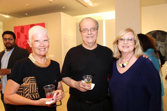 Sonia Sanz, Jorge y Rita Toro, en la muestra Hábitat en Arte @ Plaza.