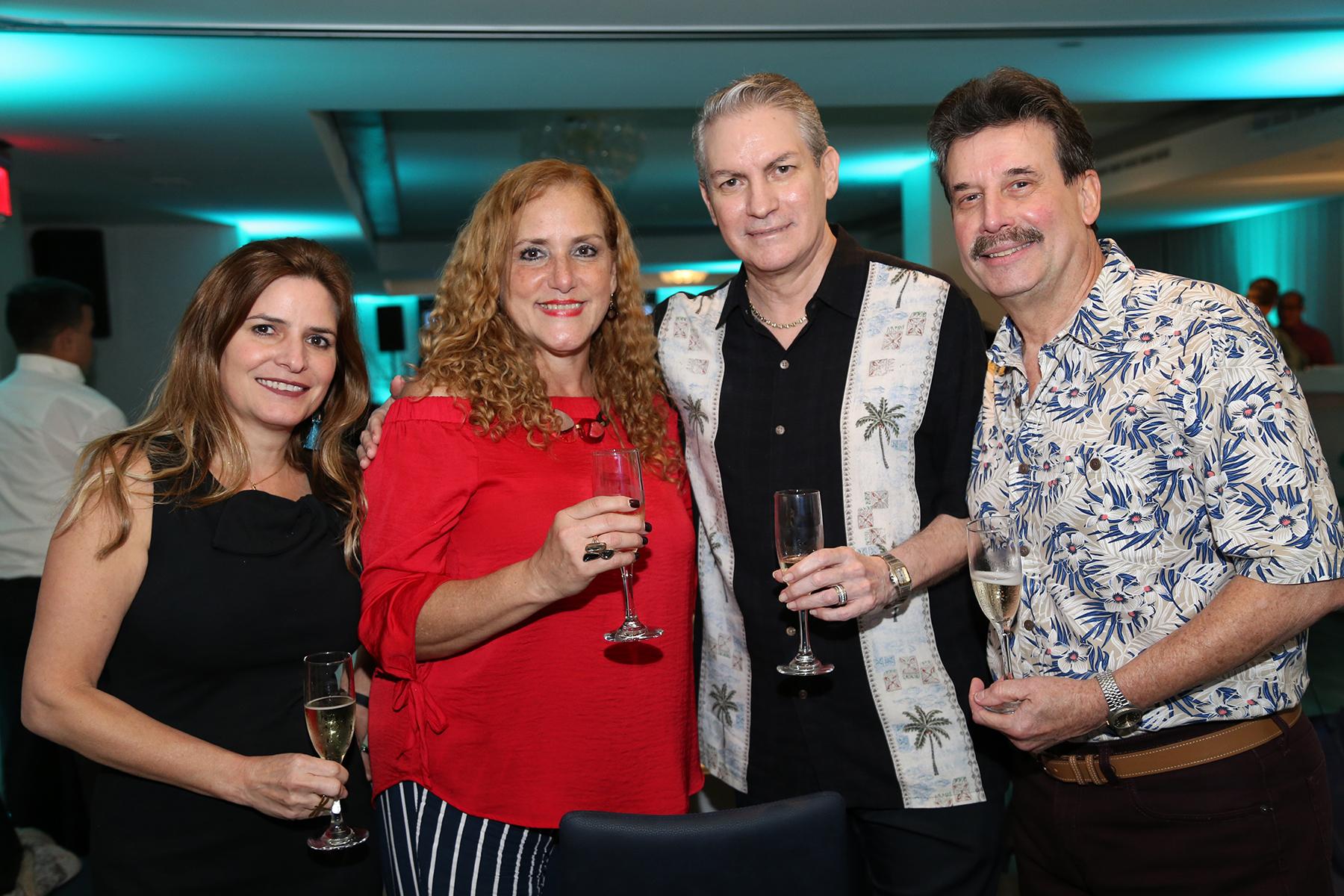 Cristina Soto, Cynthia Barron, Carlos Vallecillo y Roberto Bory. (Nichole Saldarriaga)
