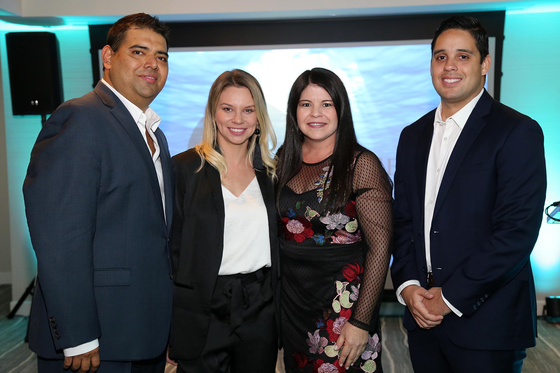 Rudy Vásquez, Carmen Santamaría, Karen Negrón y Guillermo Sosa. (Nichole Saldarriaga)