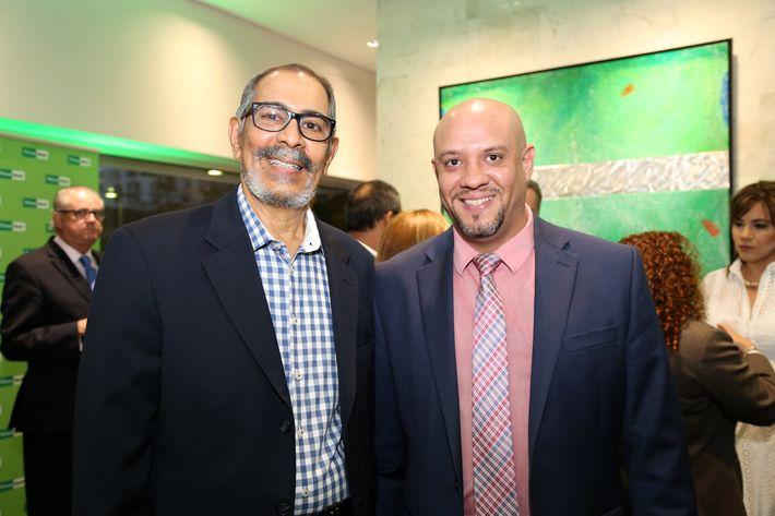 Rubén Ríos y Amet Rivera, en la inauguración de la Unidad de Platinum Banking y sucursal de FirstBank.