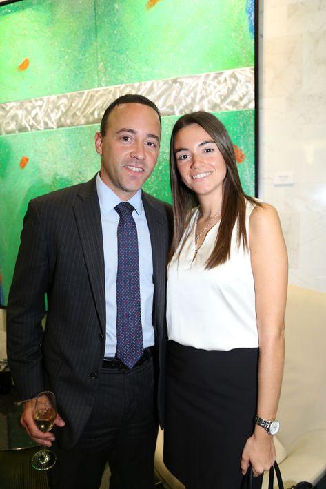 William Vidal y Michelle de la Vega, en la inauguración de la Unidad de Platinum Banking y sucursal de FirstBank.
