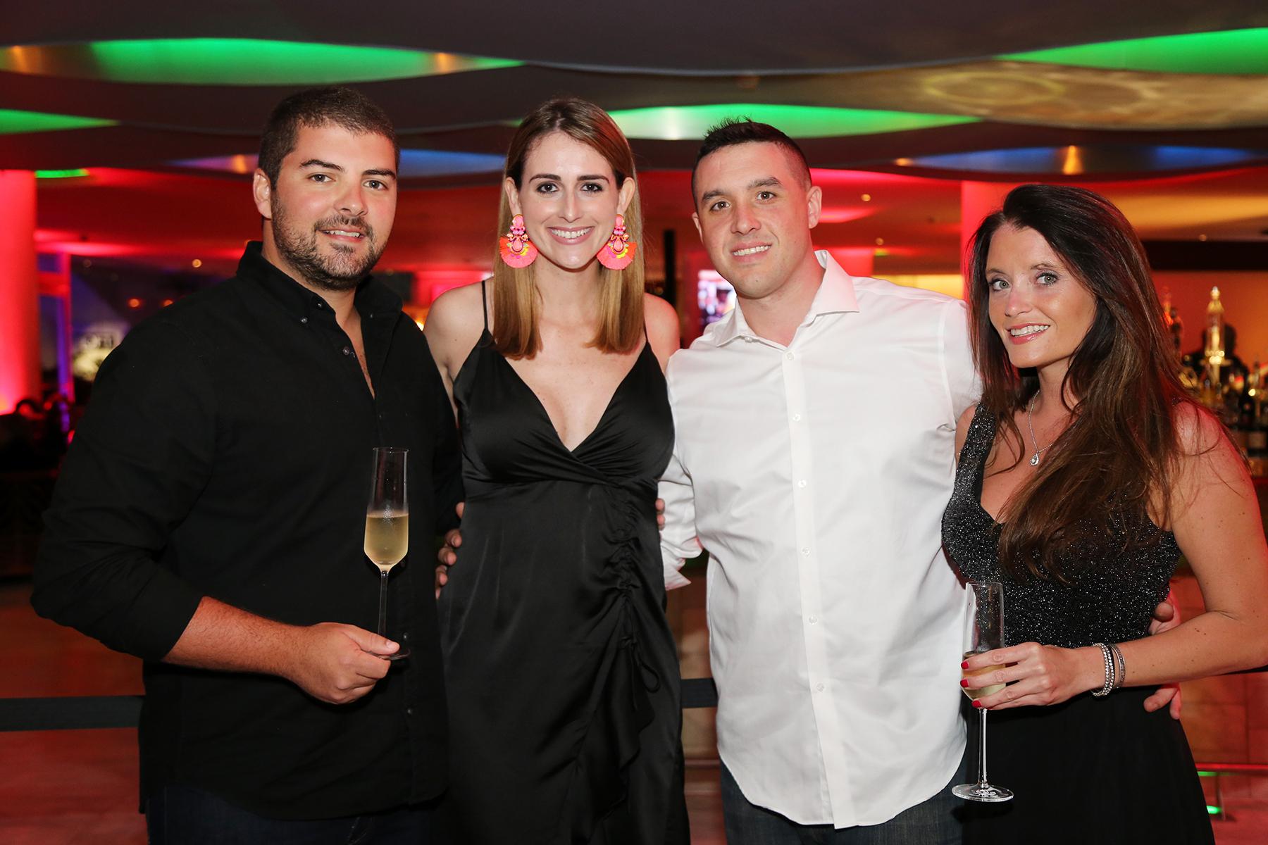 Jorge Mutelier, María del Mar Saldaña, James Hogan, Jenni Eaves.  (Nichole Saldarriaga)