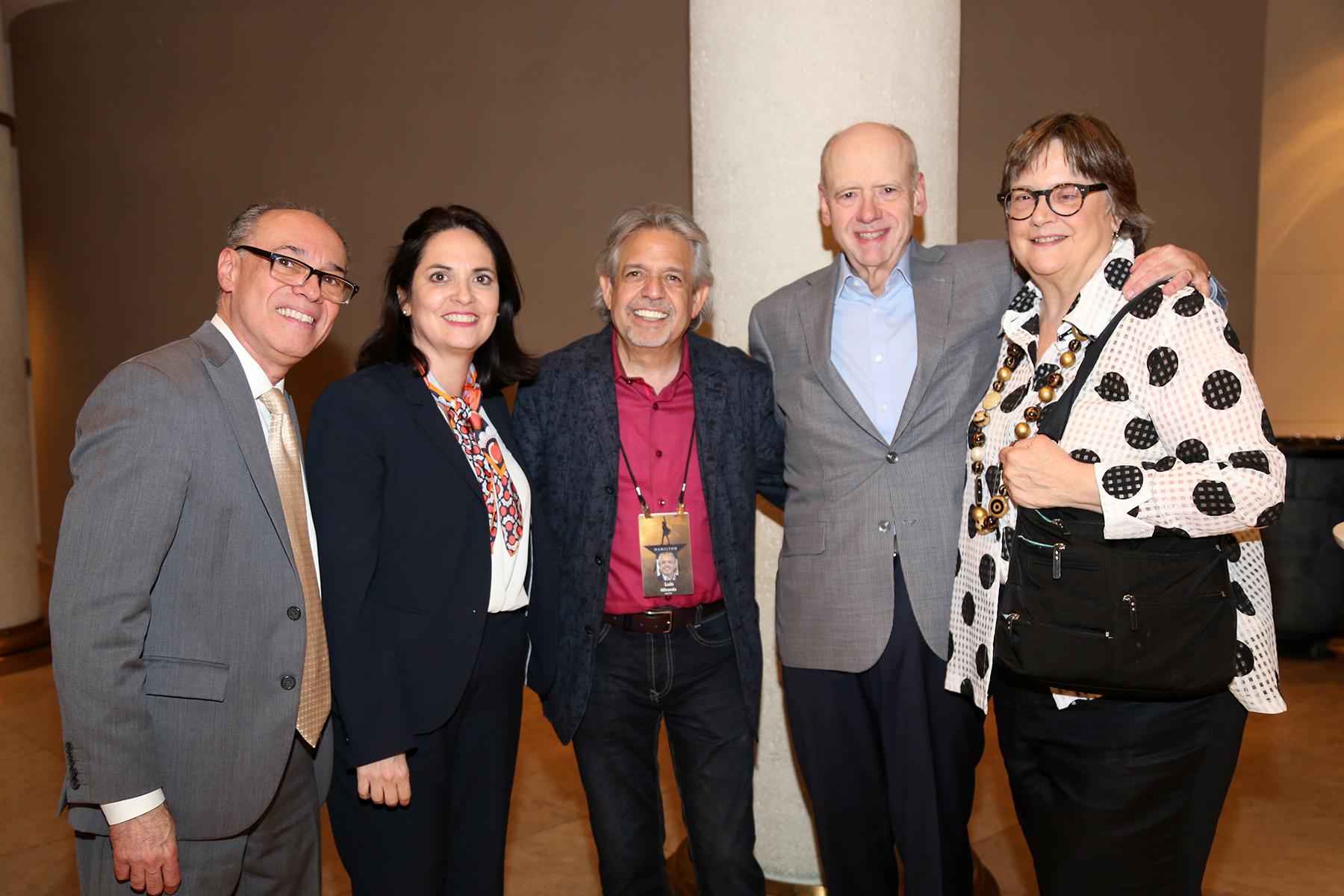 Billy Ocasio, Marta Mabel Pérez, Luis Miranda, Jerry y Susan Johnson. Foto Nichole Saldarriaga