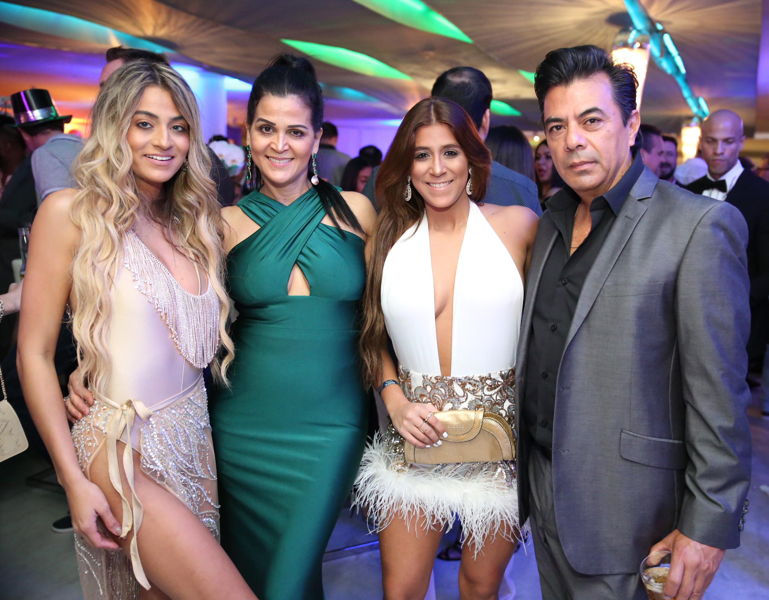 Marcela Salazar, Yanira Reyes, Valentina Salazar y Giovanni Salazar. Suministradas