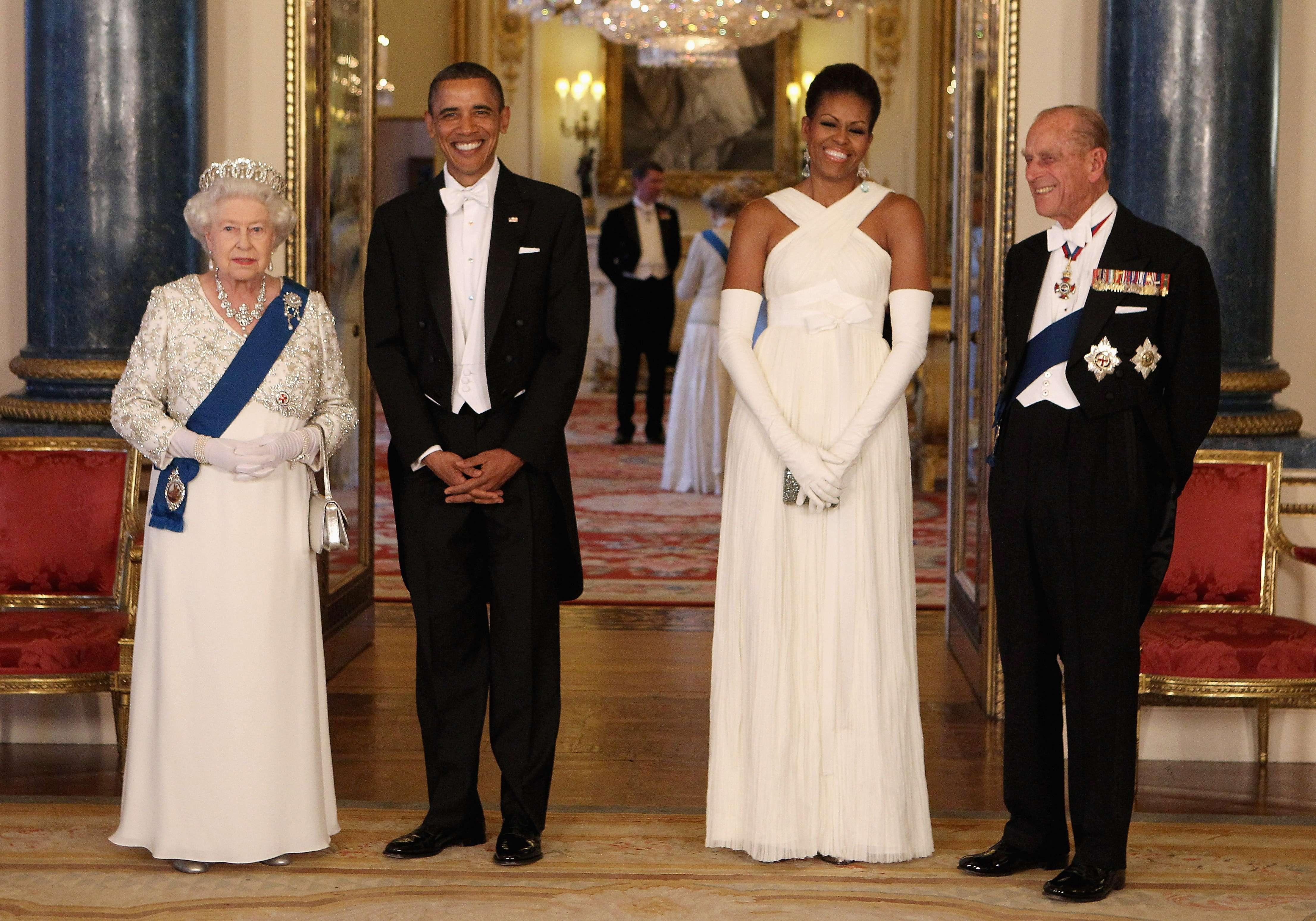En mayo de 2011 recibió en el palacio de Buckingham al entonces presidente de Estados Unidos, Barack Obama y a la primera dama, Michelle Obama. (Archivo)