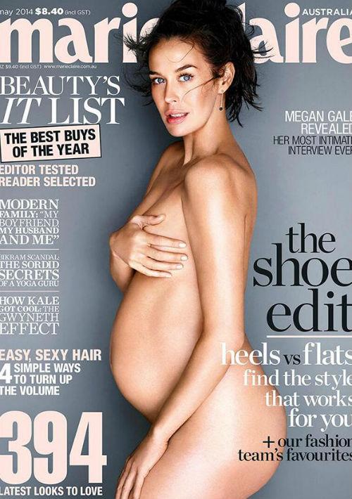 La modelo australiana Megan Gale en la portada de Marie Claire. (Archivo)