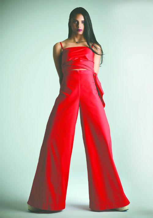 Con tan solo un año de carrera en la industria de la moda a nivel internacional, Cortés Bernard también ha participado en las pasarelas de H&M Studio y Fenty by Puma, de la cantante Rihanna.  (Ángel Luis García/ GFR Media)