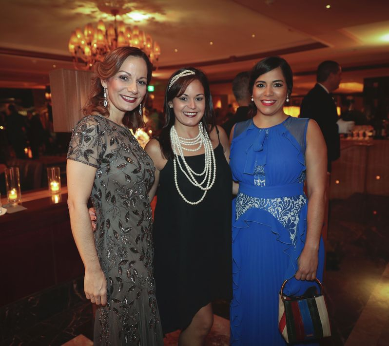 Militza Orama, Loraine Santana y Luz Gonzalez. Foto suministrada