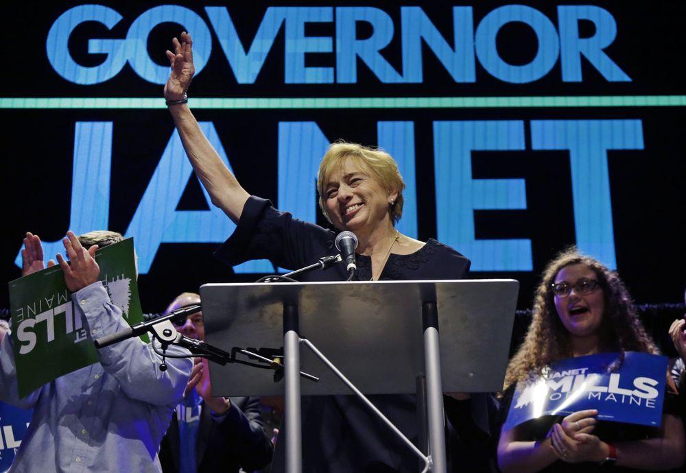 Janet Mills – Representando al partido demócrata, es la primera gobernadora del estado de Maine. (Foto: AP)