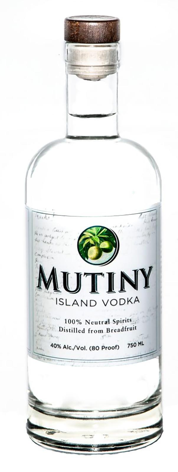 Vodka Mutiny Island de St. Croix, hecha de pana, libre de gluten, sin azúcar añadida y non-gmo, de La Enoteca. (Suministrada)