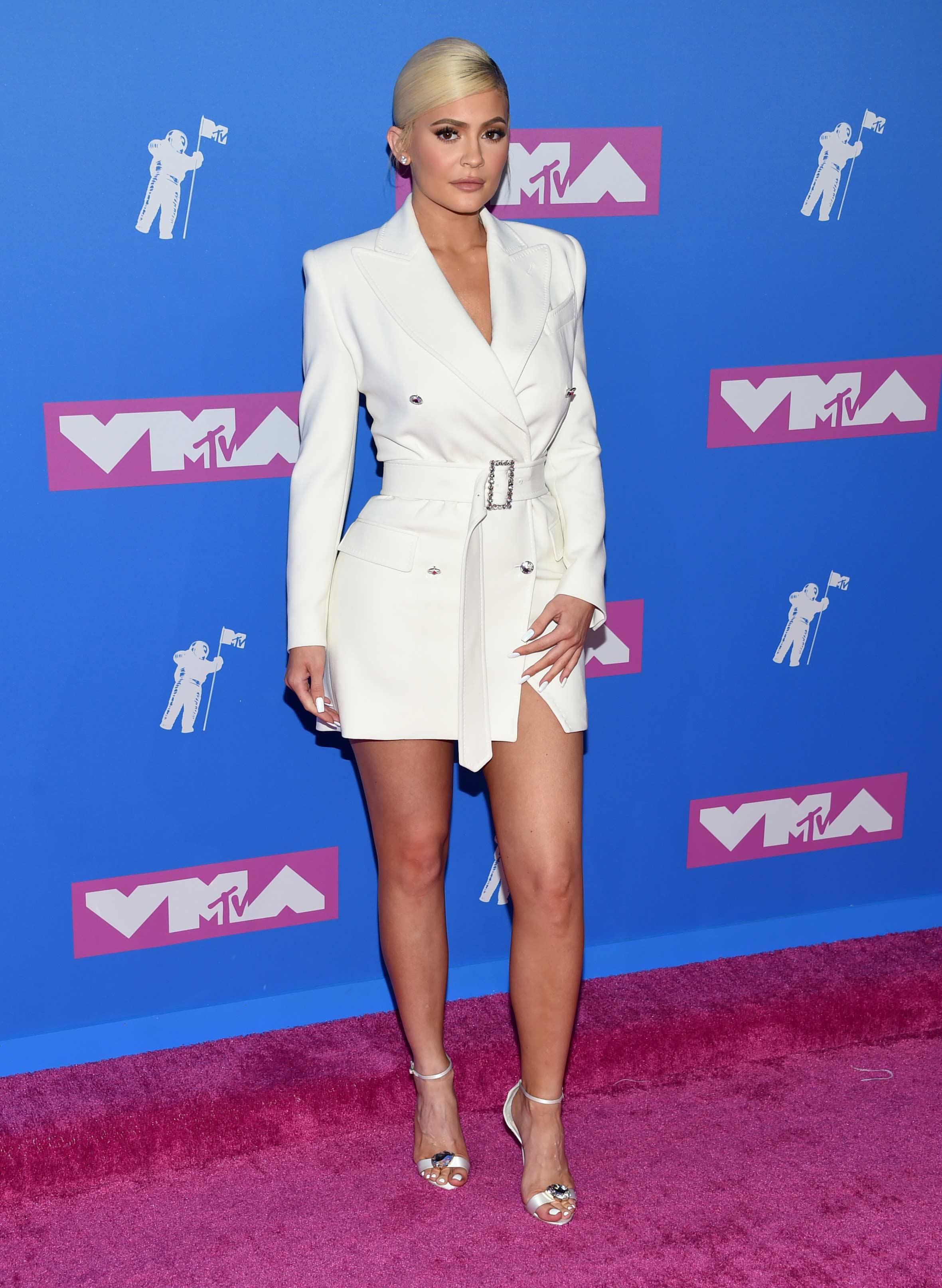 Kylie Jenner, otra de las socialités que dijo presente en los MTV VMA 2018. (Foto: AP)