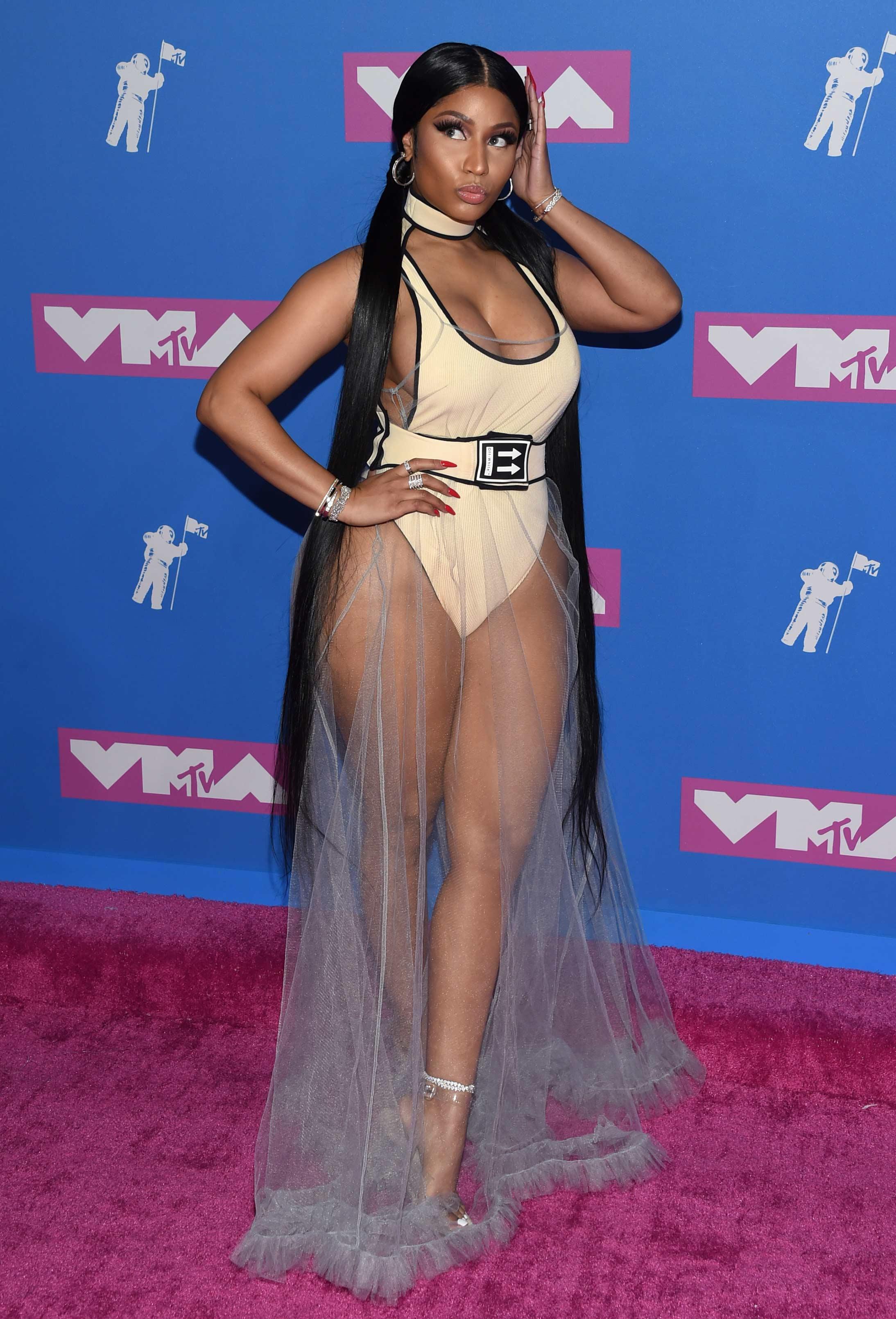 Nicky Minaj también estuvo presente en la gala. (Foto: AP)
