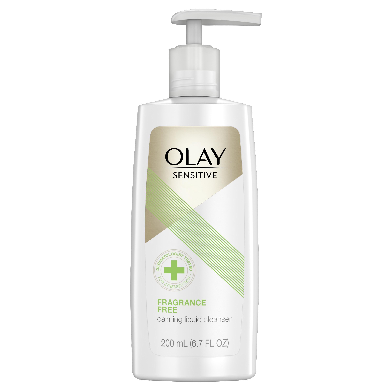 Olay Sensitive Calming Liquid Cleanser es una fórmula con moléculas limpiadoras que se deslizan por la piel para remover el sucio y las impurezas sin interrumpir la estructura natural de la piel. Contiene Pro-Glicerina para ayudar a la piel a producir glicerina y tratar la resequedad desde donde comienza. (Suministrada)