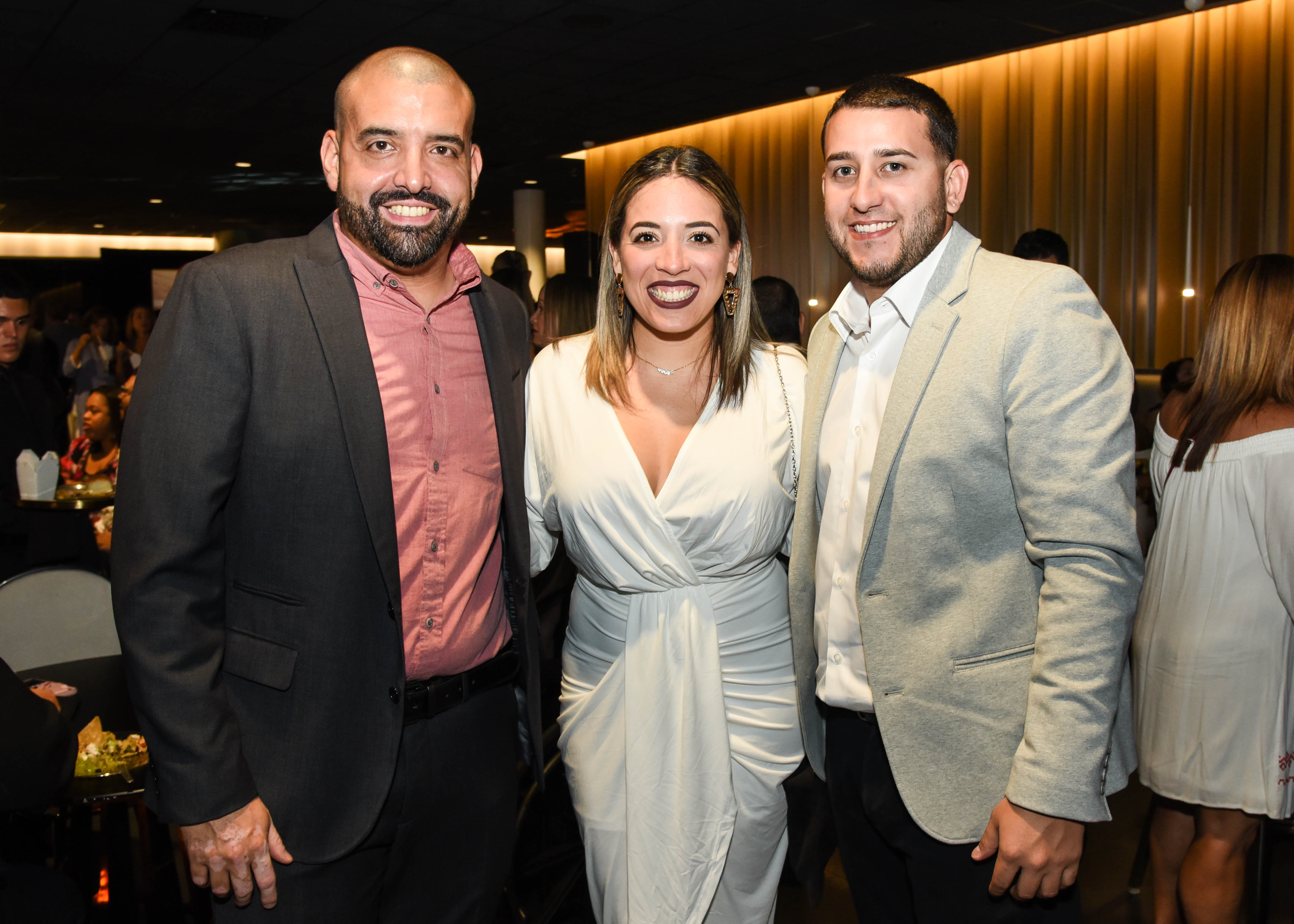 Marcial Feliciano, Miriam Ruiz y Oscar Santos. (Enid M. Salgado)