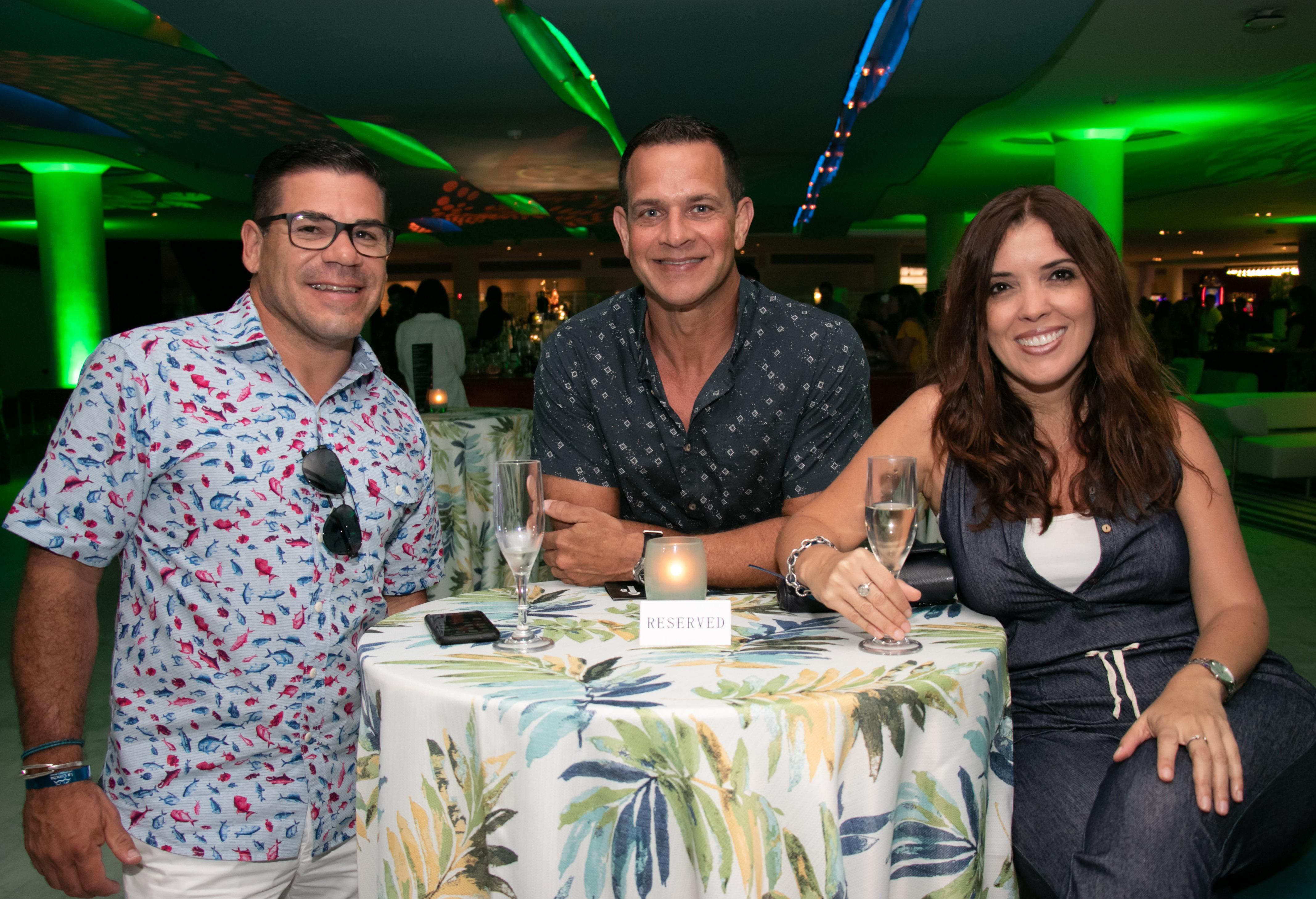Pedro Pagán, Luis B y Jessica Lugo. (Suministrada)