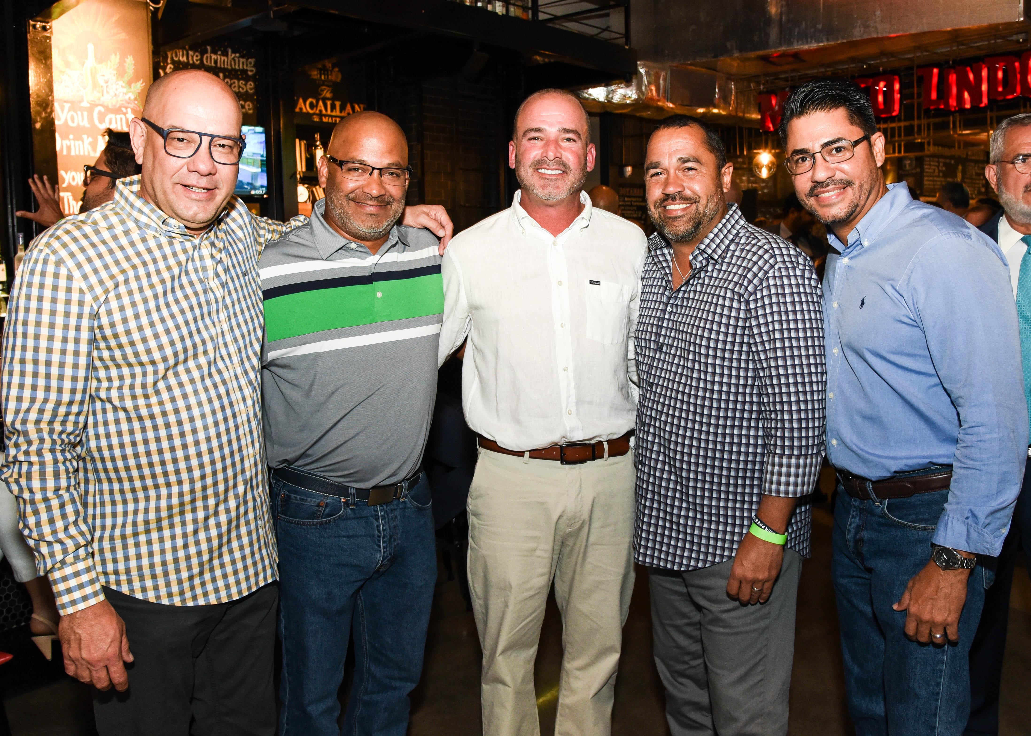 Ariel Rodríguez, Erickson Villeras, Ángel Buitrago, Omar Vázquez y Alberto Díaz. (Enid M. Salgado Mercado)