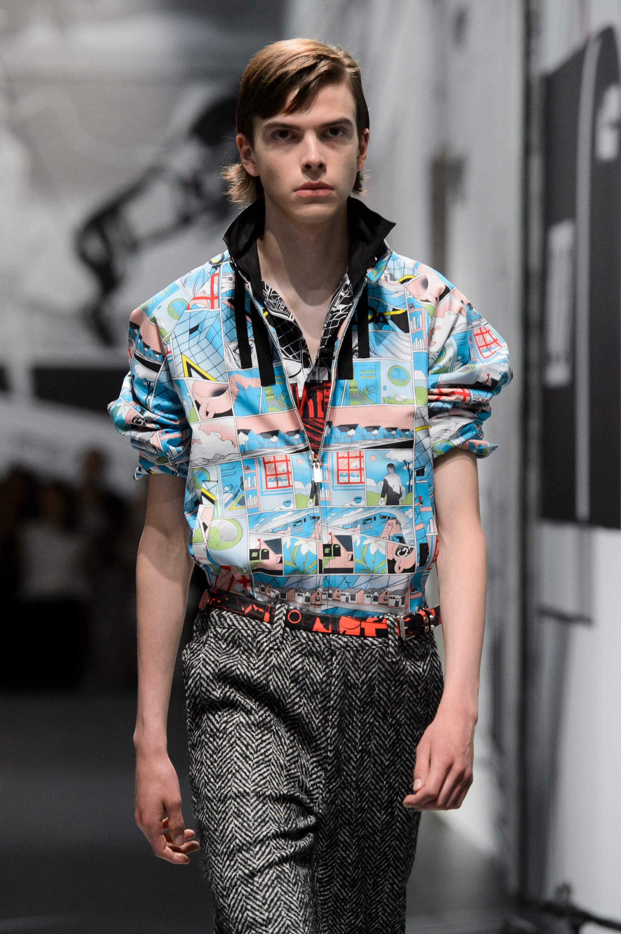 Las camisas, uno de los favoritos de Prada para dejar la huella de los cómics. Foto: WGSM.