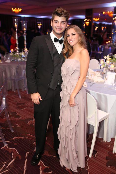 Alejandro Marxuach y Zoe Rojo, en el Senior Prom de Baldwin School.