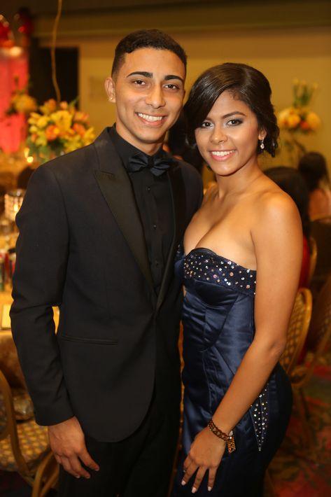 Ramon Medina y Daniela Hernández, en el Prom del Colegio de la Inmaculada.