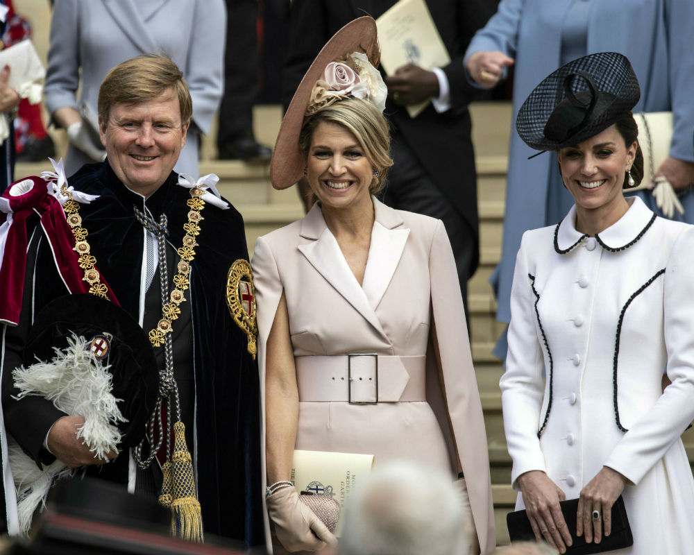 William Alexander, Maxima y Kate. (AP)