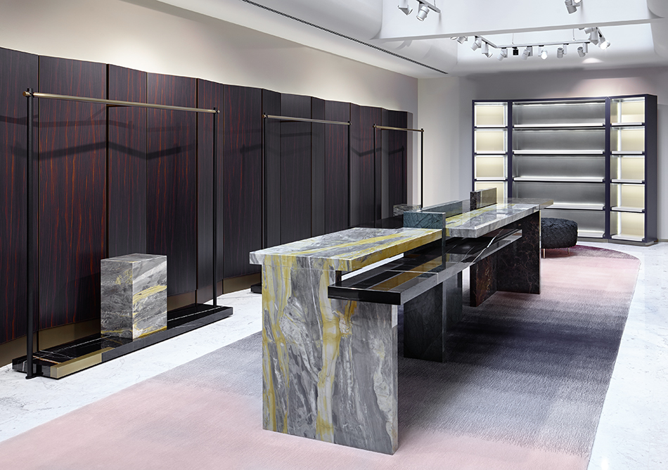 El diseñador Rodolphe Parente integra el rosa en una alfombra para su concepto Apropos. Foto WGSN.