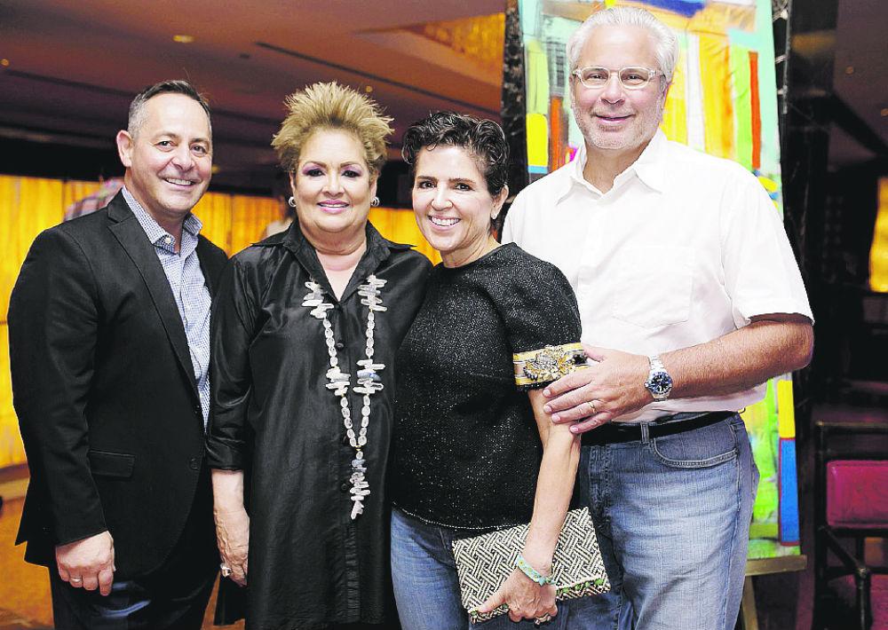 Albert Charbonneau, Sylvia Villafañe, Beatriz Sánchez y Alberto Bacó. (Foto: Xavier García)