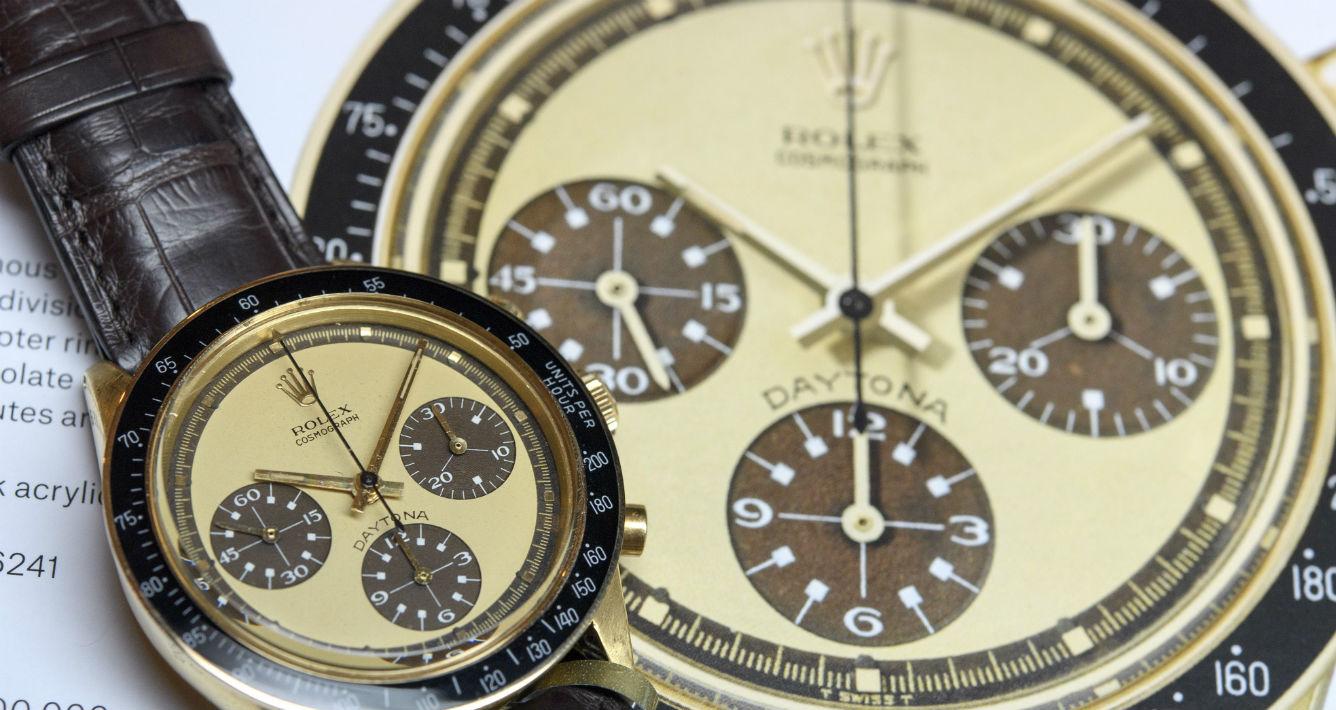 Rolex en oro 18K. Se espera que se venda hoy entre los $500,000 y $800,000. (Martial Trezzini/Keystone via AP)