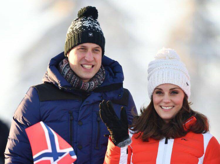 El príncipe William y Kate Middleton durante la visita de cuatro días a Noruega. (Cornelius Poppe/NTB scanpix via AP)
