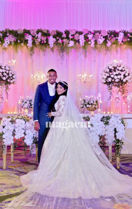 El tocado de la novia fue de María Elena. (Suministrada/ Claudette Montero)