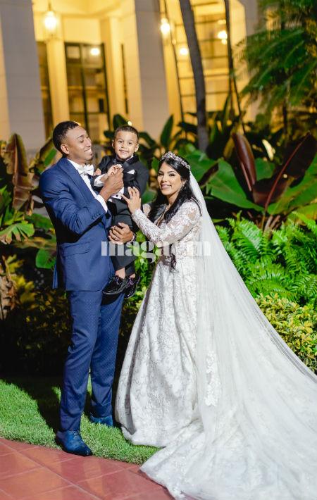 El hijo de la pareja, Jahel Orlando, fue parte importante de la celebración. (Suministrada/ Claudette Montero)