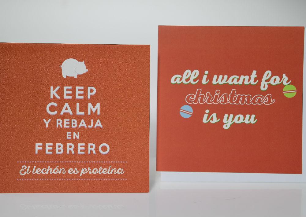 Tarjetas con mensajes de temporada, $4.99, de Bien Cool. (Foto: Gerald López-Cepero)