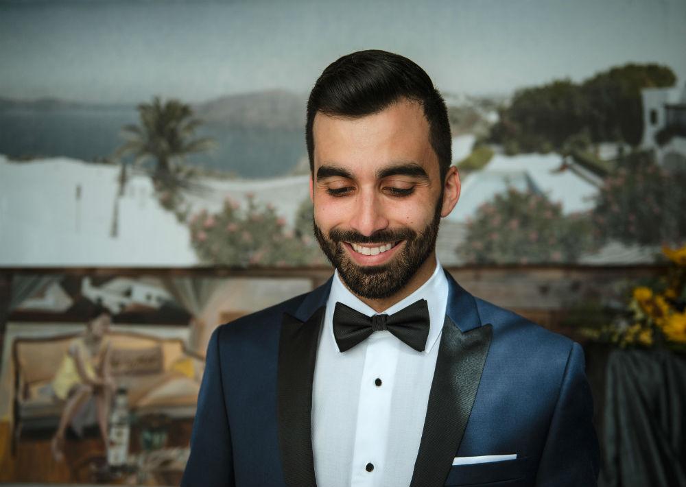 Atuendo del novio: Calvin Klein. (Suministrada)