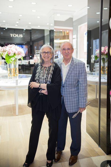 Marie Helene y David Morrow, en la apertura de la tienda Tous en The Mall of San Juan.