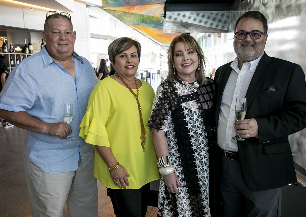 Arnaldo Méndez, Issier Muñiz, Enid y Rafael Gavilanes. (Suministrada)