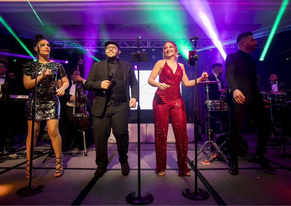 Los invitados disfrutaron de un repertorio bailable a cargo de Cuenta Regresiva Big Band. (Suministrada)