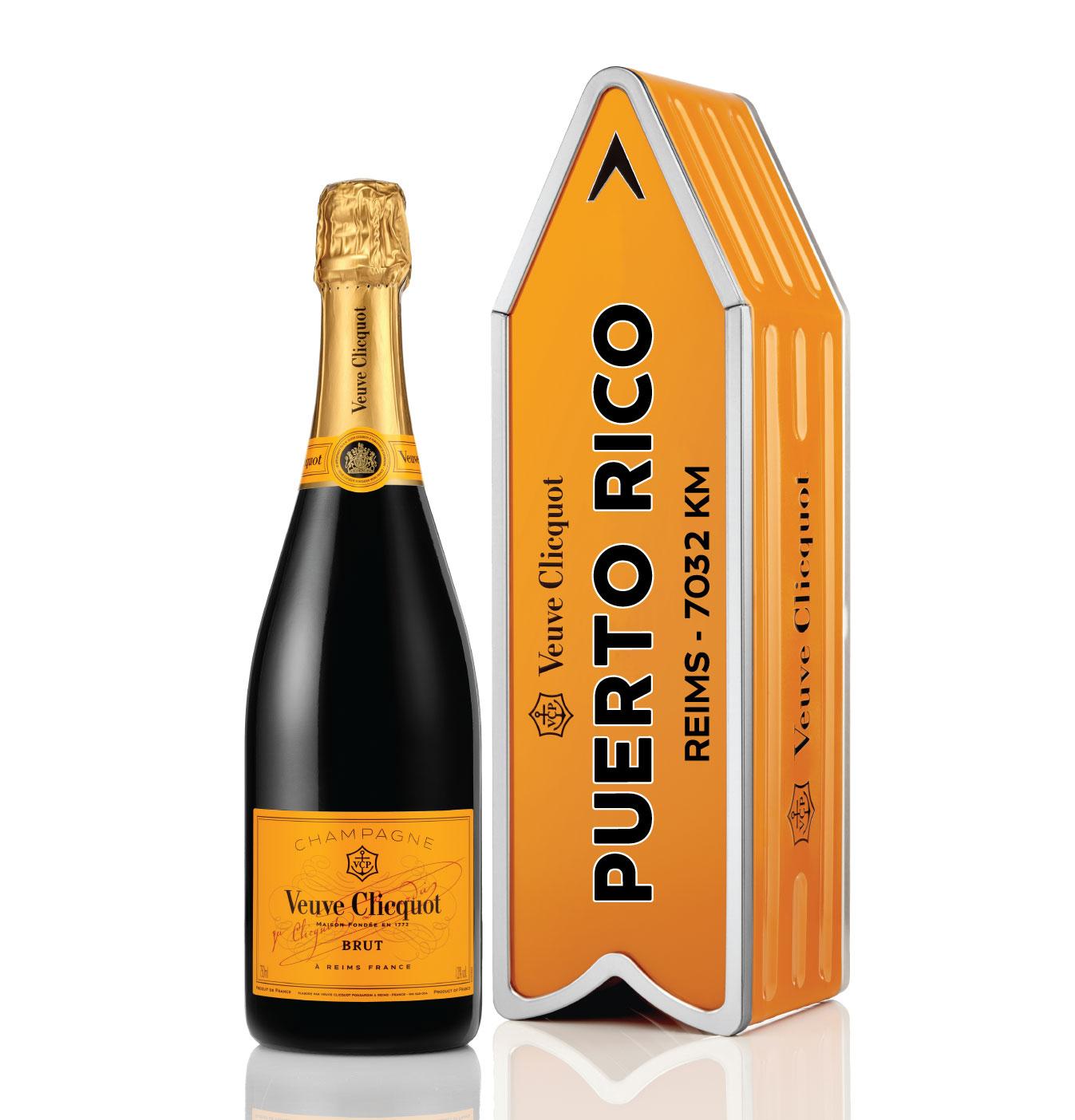 Estuche de champán Veuve Clicquot Arrow Puerto Rico de La Bodega de Méndez. (Suministrada)