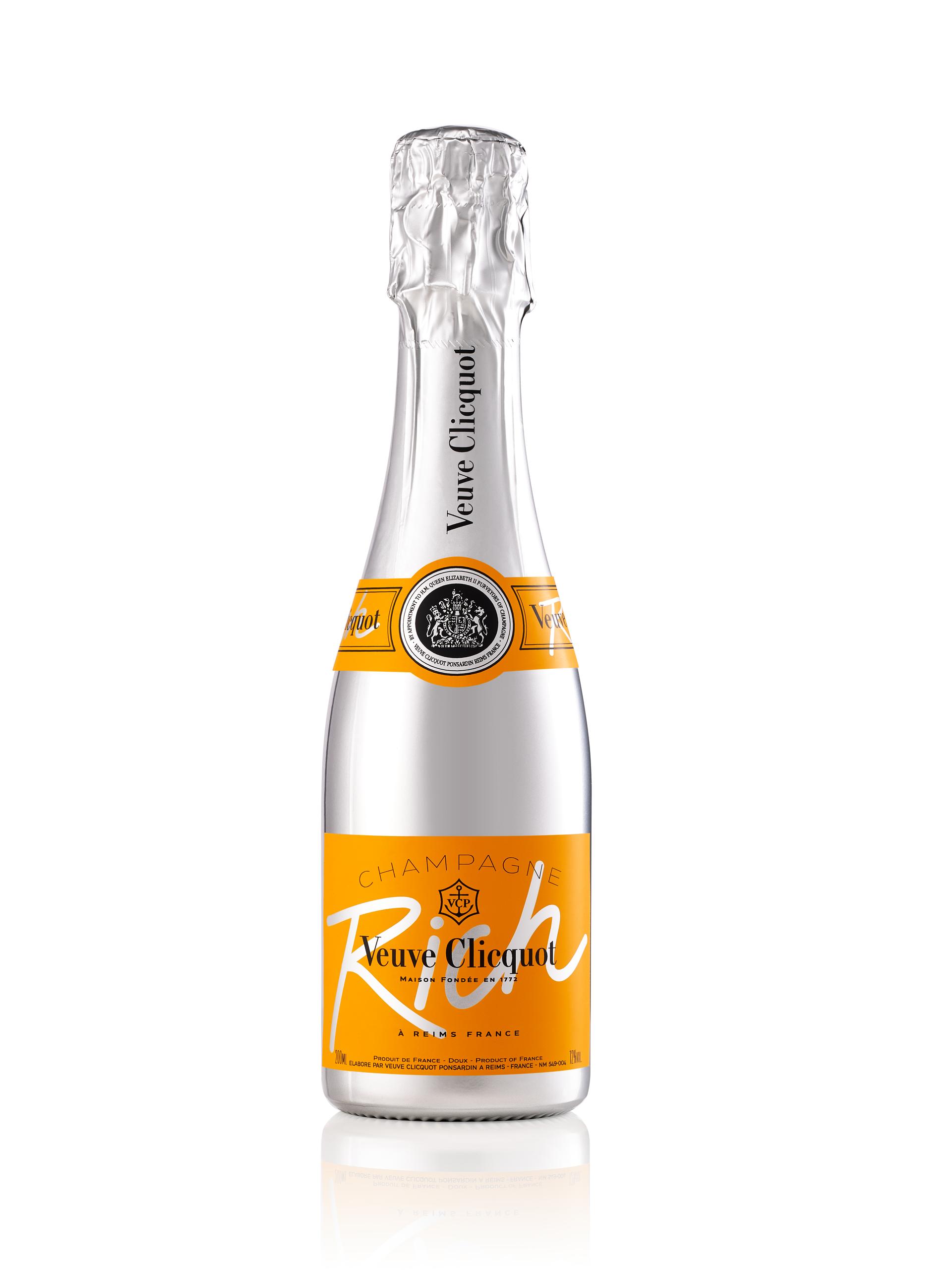 Nuevo formato del Veuve Clicquot Rich en botellita de 187 ml: Petit Rich. De La Bodega de Méndez. (Suministrada)