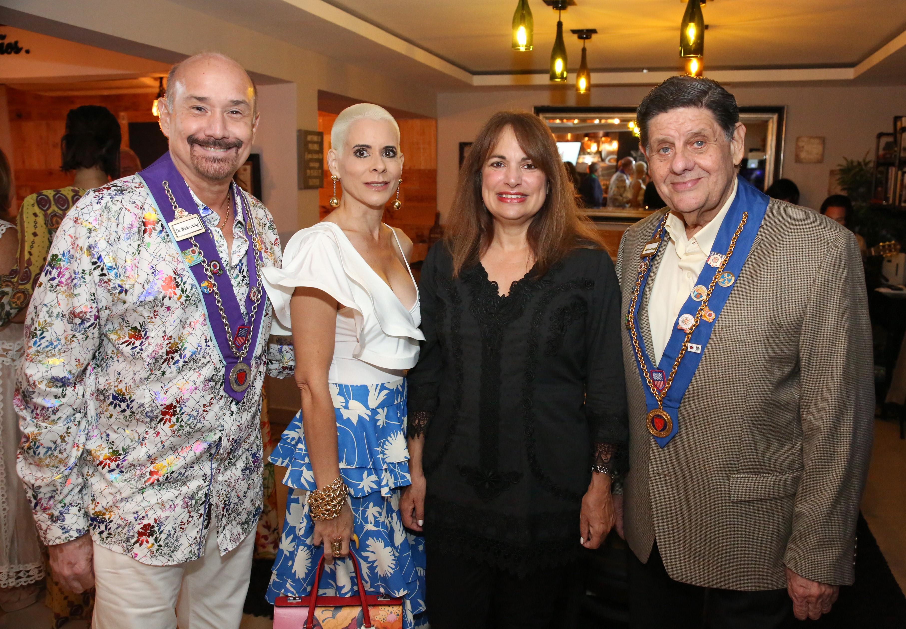 Waldo Santiago, Mirely Colberg, Michelle Lavergne y John Regis. Foto suministrada.
