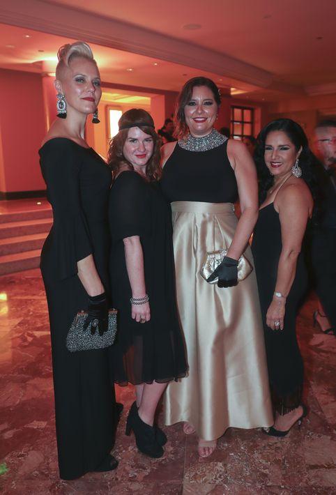 Wesley Cullen, Carolina Cestero, Catalina Puig y Carmen Cedre. Foto suministrada