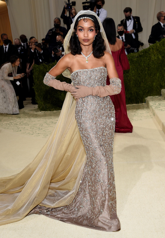 La actriz estadounidense Yara Sayeh Shahidi  en un vestido de Christian Dior.